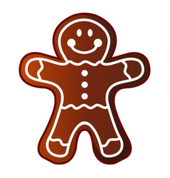 man gingerbread icon cartoon style vector image