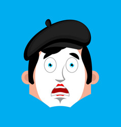 mime surprised emotion face avatar pantomime vector image