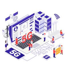 modern internet communication design concept vector image