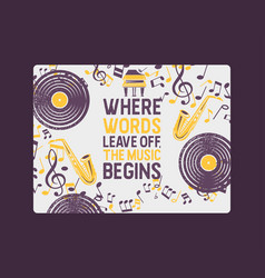 musical instruments banner poster vector image