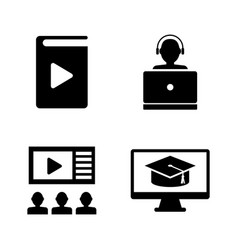online education learning simple related vector image