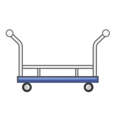 Open shop cart icon cartoon style vector