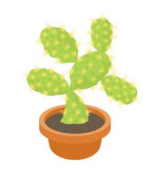 opuntia cactus icon cartoon style vector image