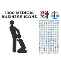 oral sex gays icon with 1300 medical business vector image