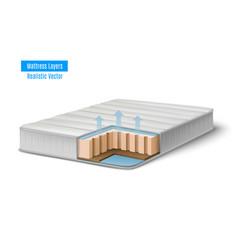 realistic mattress cutout composition vector image