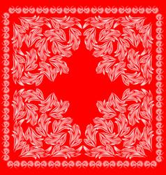red bandanna design vector image