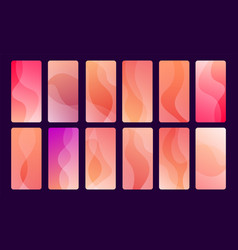 set 12 screen designs for mobile apps vector image