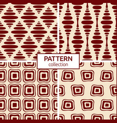 set four abstract seamless geometric patterns vector image
