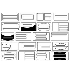 Set of different school notebook labels vector