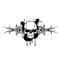 Skull and patterns 110712 vector