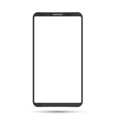 smartphone mockup with blank screen vector image