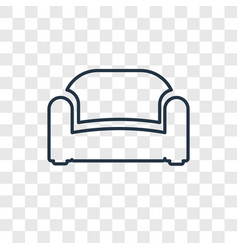 sofa concept linear icon isolated on transparent vector image