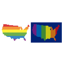 spectrum pixel dotted usa map vector image