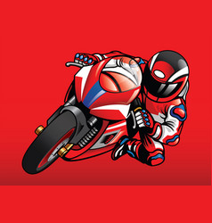Sportbike racer in action vector