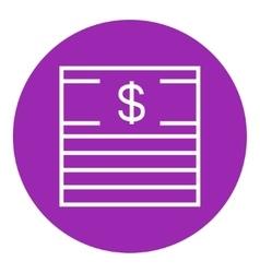 Stack of dollar bills line icon vector