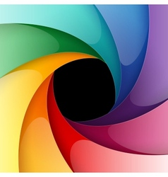 Swirly rainbow colorful shiny paper background vector