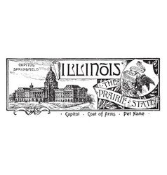 The state banner of illinois the prairie state vector