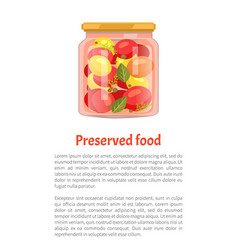Twist top glass with veggie and spicy seasoning vector