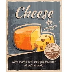 Vintage cheese poster vector