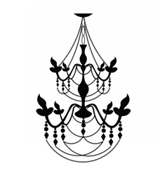 Vintage Classic chandelier on white vector image