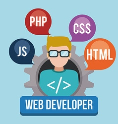 Web developer design vector