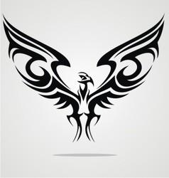 Eagle bird tattoo design vector