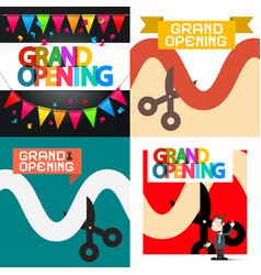 grand opening designs set vector image vector image