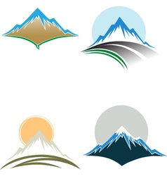 Mountain tops vector image vector image