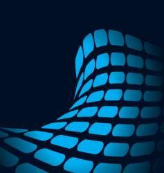 neon wave background vector image vector image