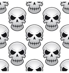 Seamless pattern of danger skulls vector image