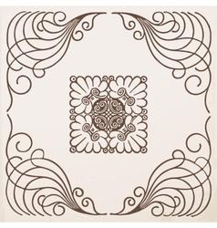 vintage border frame with ornament vector image