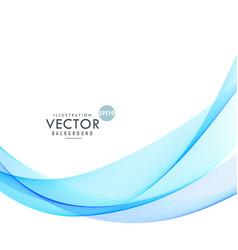 wavy shape blue background design vector image vector image