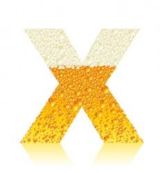 alphabet beer x vector image