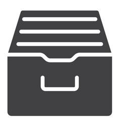 archive storage glyph icon web and mobile vector image vector image