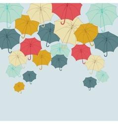 Background with collor umbrellas autumn vector