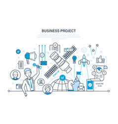 business project time management marketing vector image vector image