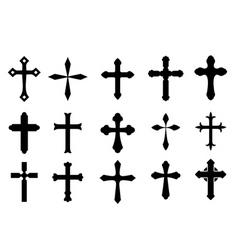 cross symbols vector image vector image
