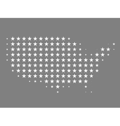 Map of United States made of stars vector image