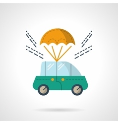 Car purchase and delivery flat color icon vector image
