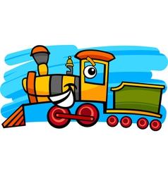 cartoon locomotive or train character vector image