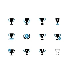 Cup duotone icons on white background vector image vector image