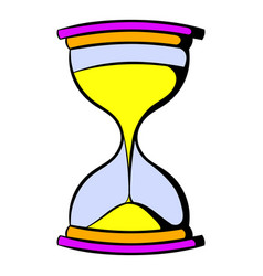 hourglass icon cartoon vector image vector image