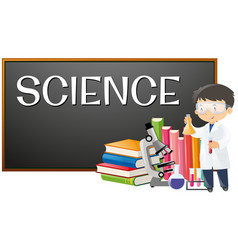 teacher and science subject at school vector image