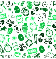 time theme modern simple icons seamless color vector image
