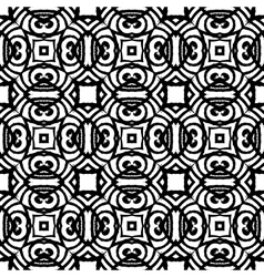 Vintage art deco pattern in black and white vector image vector image