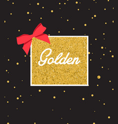 Abstract black background with sparkles and gold vector