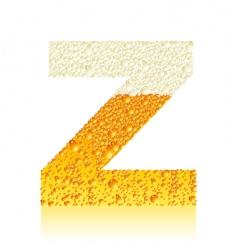 alphabet beer z vector image vector image