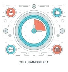 Flat line Business Time Management Concept vector image vector image