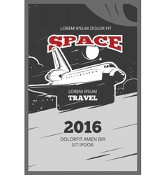 Vintage astronautics poster vector image vector image