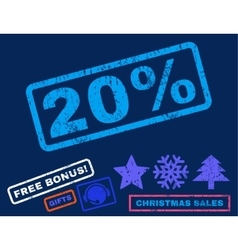 20 Percent Rubber Stamp vector